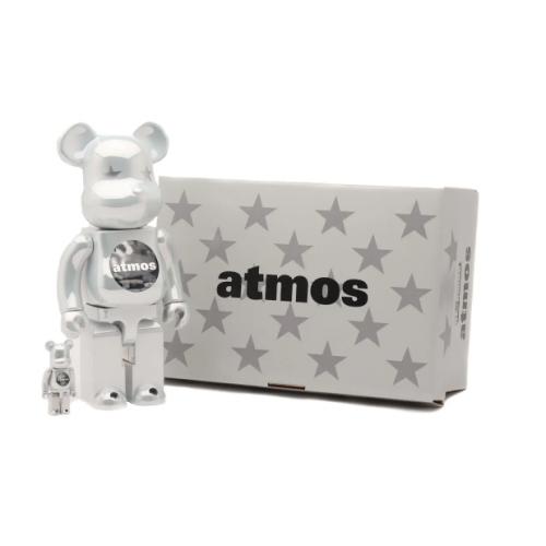 "Medicom Toy Taps X Atmos For A Glossy ""White Chrome"" BE@RBRICK"