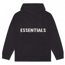 FOG Essentials Black KNIT Hoodie