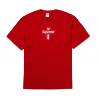 Supreme Cross Box Logo Tee Red