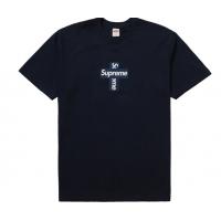 Supreme Cross Box Logo Tee Navy
