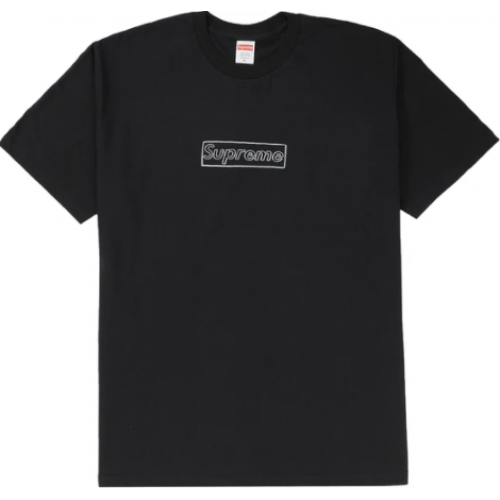 Supreme KAWS Chalk Logo Tee Black