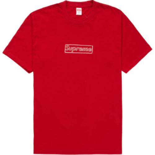 Supreme KAWS Chalk Logo Tee Red