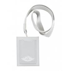 Dior x Jordan Wings Lanyard Grey in Calfskin with Silver-tone