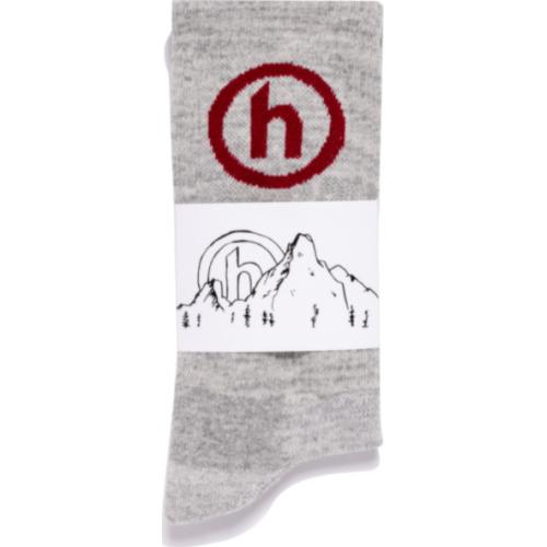 Hidden NY Crew Socks Grey/Red