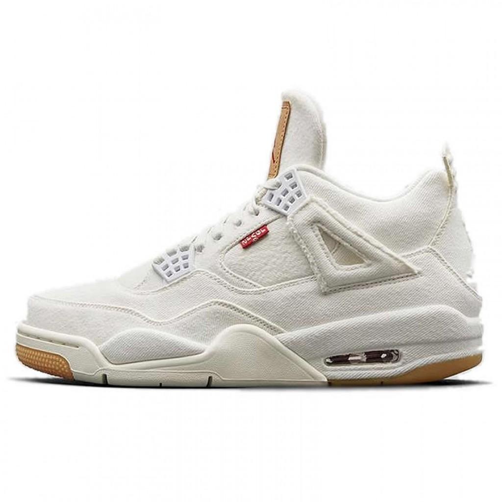 bac53211e56 Air Jordan 4 Levi's White Denim by youbetterfly