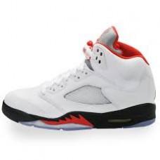 Air Jordan 5 Retro White Fire Red