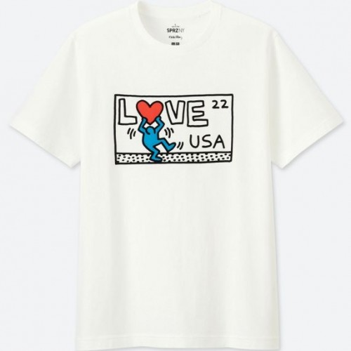 UNIQLO SPRZ NY Short Sleeve Graphic T-Shirt (Keith Haring)