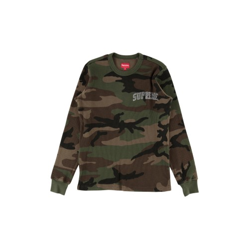 Supreme Arc Logo Long Sleeve Thermal Camo