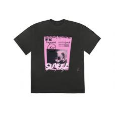 Travis Scott Cactus Jack For Fragment Pink Sunrise T-shirt Washed Black