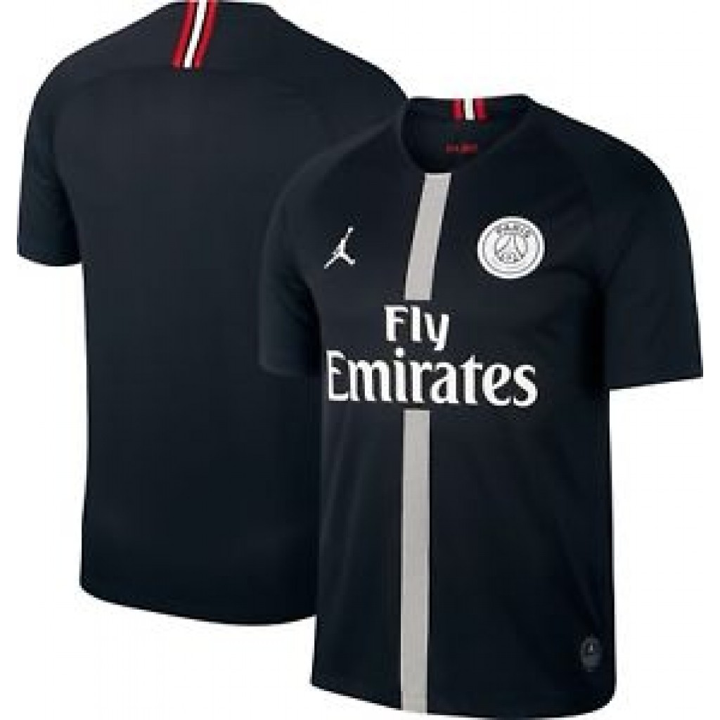 new product e3678 40943 Air Jordan x PSG Football Jersey Black by Youbetterfly, UAE
