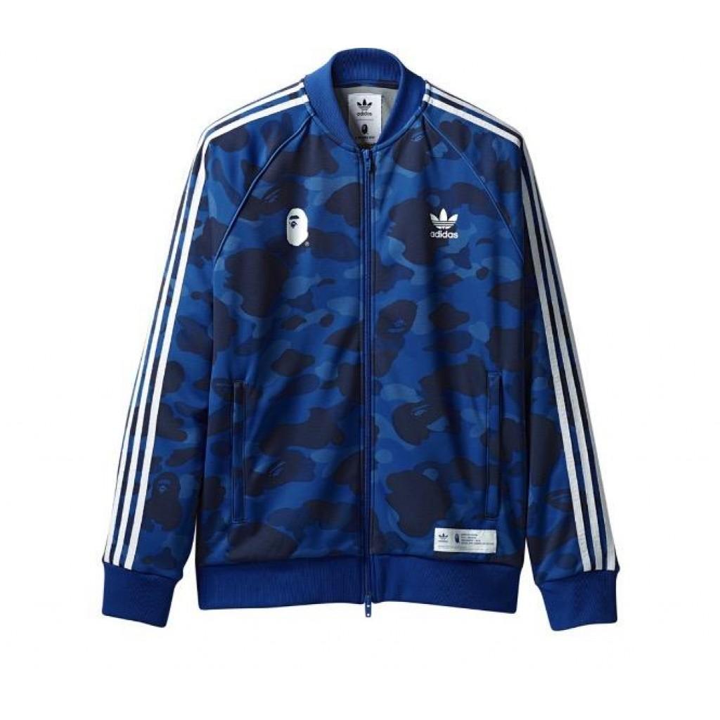 Bape X Adidas Track Jacket Blue By Youbetterfly Uae