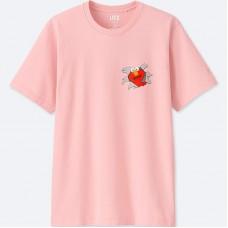 KAWS x Uniqlo Sesame Street Pink