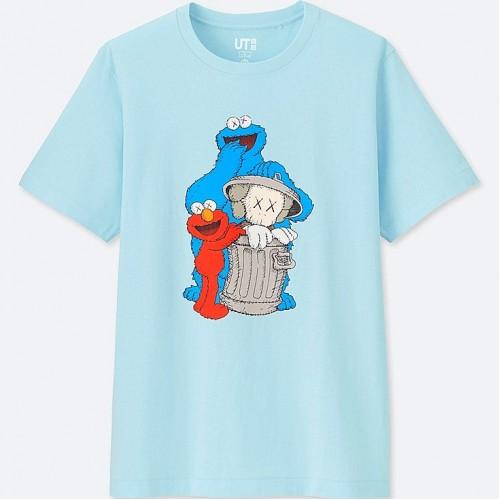 KAWS x Uniqlo Sesame Street All Blue