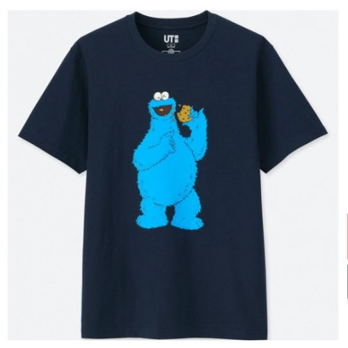 KAWS x Uniqlo Sesame Street Cookie Monster - Blue
