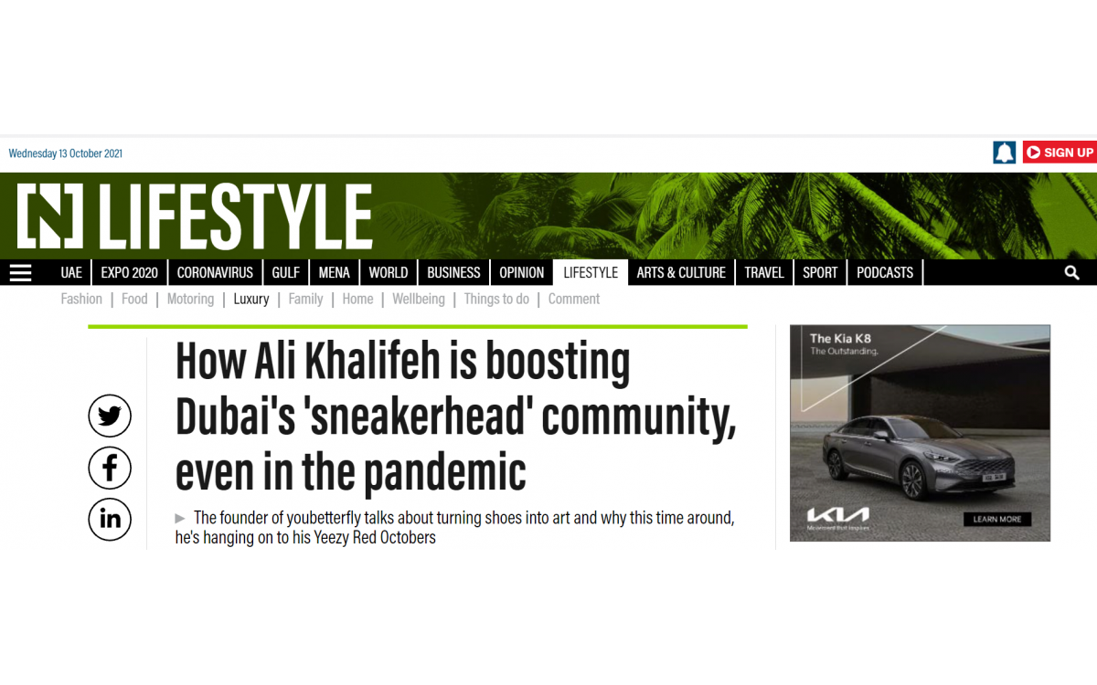 How Ali Khalifeh is boosting Dubai's 'sneakerhead' community, even in the pandemic