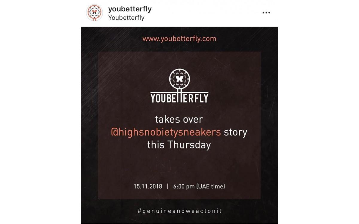 Highsnobiety x youbetterfly story takeover
